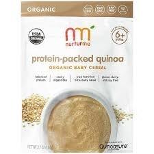 Nurturme Organic Baby Cereal Quinoa -- 3.7 oz pack of 2