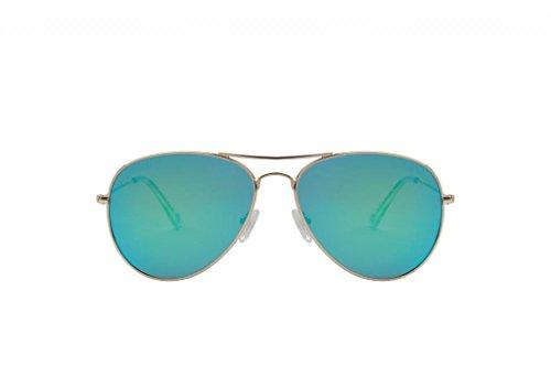 triple graces Women's Ultralight Silver Frame Revo Green Lens aviator Sunglasses - Grace Sunglasses