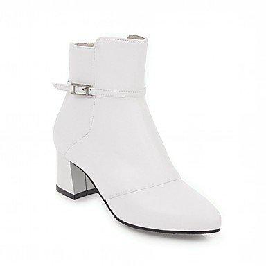 RTRY Zapatos De Mujer De Piel Sintética Pu Novedad Moda Otoño Invierno Confort Botas Botas Chunky Talón Señaló Toe Botines/Botines Hebilla De Fiesta US5.5 / EU36 / UK3.5 / CN35