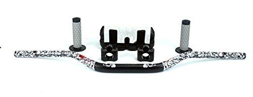 STONEMEN Motorcycle 28mm Fat Bars 1 1/8 Handlebars + Grips+ Bar Riser+bar Pad For CRF KTM YZF KLX RMZ Dirt Bike Off Road Motorcross - Handlebar Riser Pad