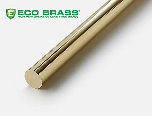 ASTM B371 Round 1 x 1 American Made ECO Brass C693 Solid Lead Free Brass Rod