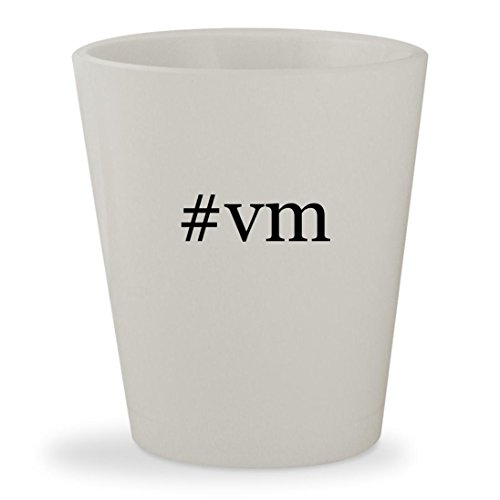 #vm - White Hashtag Ceramic 1.5oz Shot Glass