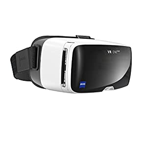 ZEISS - VR ONE Plus Headset, Dive into a World of Virtual Reality, Designed for Comfort and Ease of Use with World Leading Optics, White & Black (Certified Refurbished)