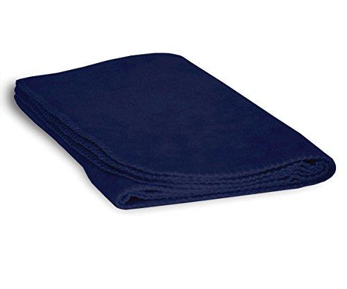 Luxurious Cozy Premium Super Soft 30 x 40 Fleece Throw Baby Blanket For Strollers, Car Seats, Kids Bed & Pets (True - Navy Fleece Dog Bed