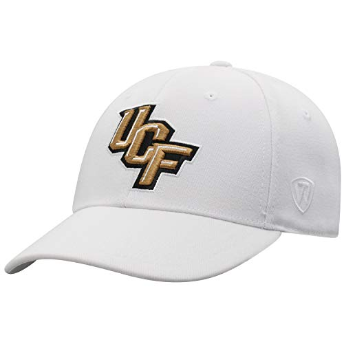 Price comparison product image Top of the World Central Florida Golden Knights Men's Memory Fit Hat Icon,  White,  One Fit