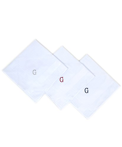 Price comparison product image Boxed 3 pc. Initial Cotton Handkerchiefs ,  G initial