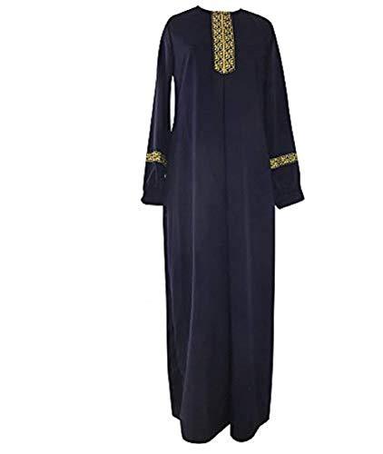 Maxi Length Cinch Waist Caftan Kaftans for Women, Boho Style Long Sleeve Maxi Dress for Women Shirt Dresses Floral Print Vintage Muslim Robe Kaftan