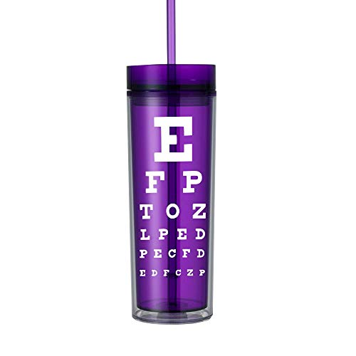 Optometry Technician Tech Gifts for Women Optician Water Bottle Tumbler Cup with Lid 0195