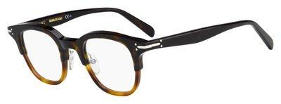 4f80ae2d1d Celine Plastic Round Eyeglasses 46 0T6U Dark Light Havana