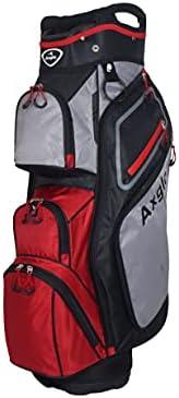Axglo Golf Bag - Golf Cart Bag - Lightweight- 14 Full Length dividers - Ample Storage