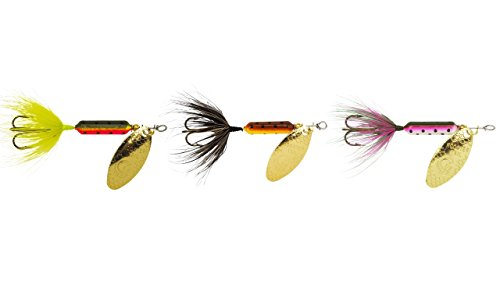 Yakima Bait Rooster Tail Trophy Pak 1/16oz Spinner Assortment, 3 Pack- BRTR, FRT, (Spinner Sport Trophy)