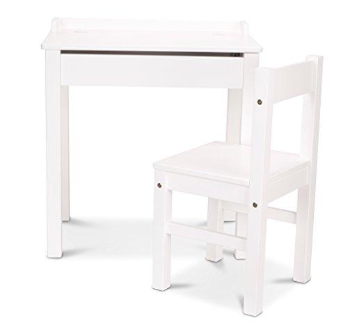 Melissa & Doug Desk & Chair - White Children's - Chair Desk Kids White