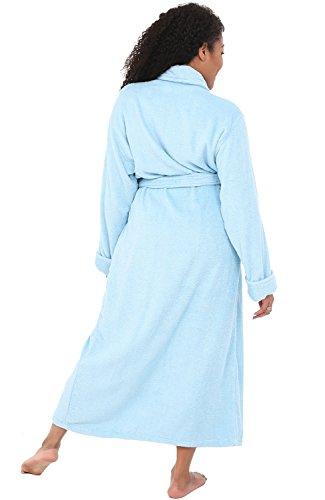 Alexander Del Rossa Mens Turkish Terry Cloth Robe Long Cotton Bathrobe A0126-MEN