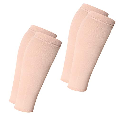 Mmhg Sleeve - Calf Compression Sleeves Men & Women 2 Pairs (20-30mmhg) - Footless Compression Socks for Shin Splint & Calf Pain Relief - for Varicose Veins, Swelling, Maternity, Edema, Nurses & Maternity