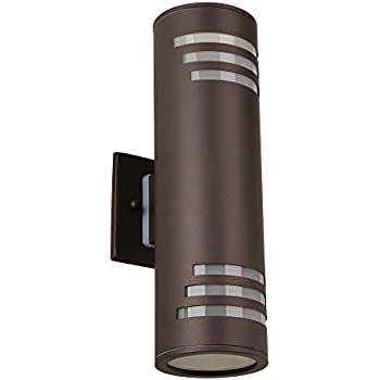 Updown bronze cylinder outdoor wall light amazon housen solutions outdoor wall light fixture brown ip54 waterproof exterior wall sconce porch patio lighting stainless steel 304 up down cylinder ul aloadofball Gallery