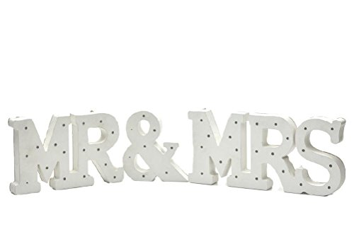 ICE WASHINGTON home series Decorative Elegant Wooden LED Letters Light MR & MRS Set by ICE WASHINGTON home series