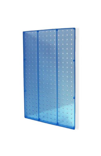 Lot of 2 New Blue Molded Plastic 13.5'' Width x 22'' High Pegboard Wall Panels by Pegboard