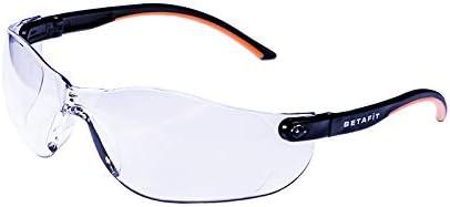 Betafit Montana - Gafas de seguridad antiarañazos y niebla para protección contra impactos de partículas de alta velocidad, caja de 12