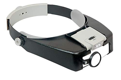 10x Magnification LED Glass Headband Magnifier Loup Lens Visor Watch Repair ()