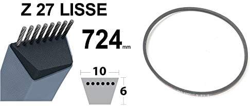 COURROIE TONDEUSE HONDA CASTELGARDEN Z27 TRAPEZO/ÏDALE 10MM x 724MM ALPINA GGP TRANSMISSION