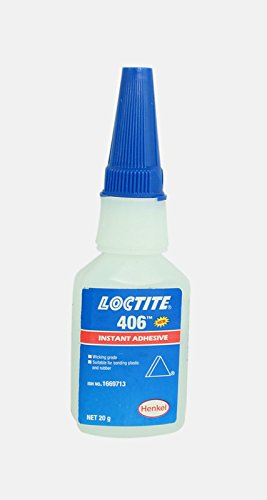 Genuine Henkel Loctite 406 Super Glue - Instant Adhesive - 20g (0.70 Oz) - Ideal for use on Plastic & Rubber by Loctite 406