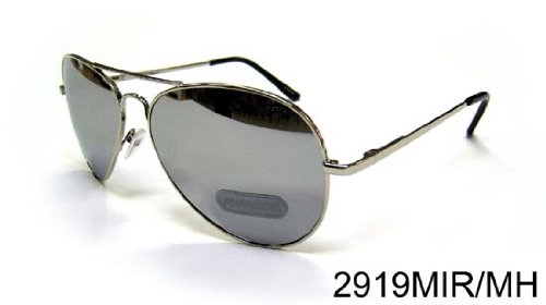 Free S&H Sunglasses - Top Gun Pilot Aviation Mirror Reflection with Metal Frame - Ban Ray Aviation Sunglasses