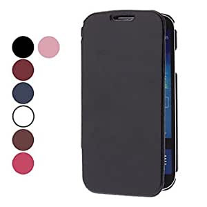 Durable PU Leather Case with Steel Plate for Samsung Galaxy S4 I9500 (Assorted Colors) --- COLOR:White