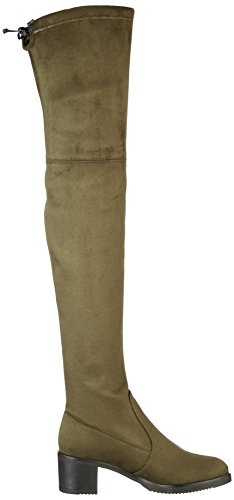 Buffalo London 2865 Micro Strech, Botas Para Mujer Verde (Khaki 13)