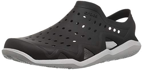 Crocs Men's Swiftwater Wave M Sport Sandal Black/Pearl White 5 M US by Crocs (Image #1)