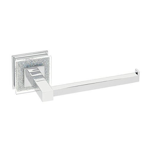 Ruvati RVA5009 Valencia Toilet Paper Holder Luxury Bathroom Accessory, Crystal and Chrome by Ruvati