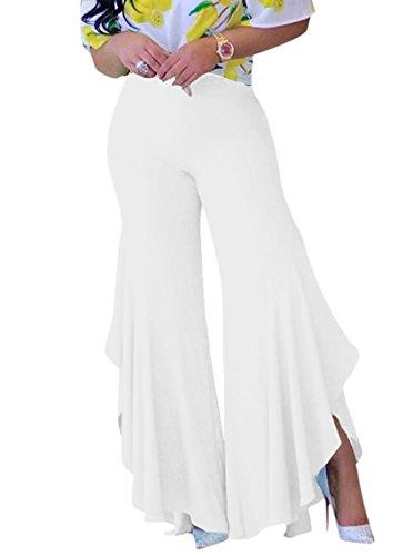 white pants with split - 9