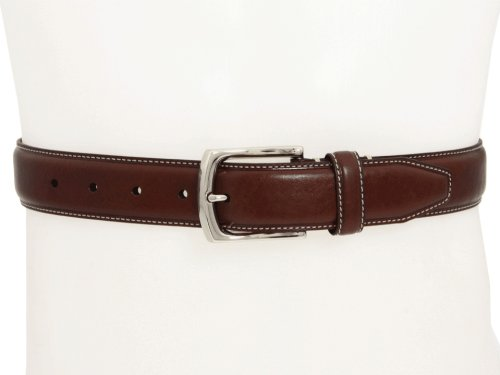 Johnston & Murphy Men's TopStiched Belt,Brown,Size 36 - Brown Calfskin Belt