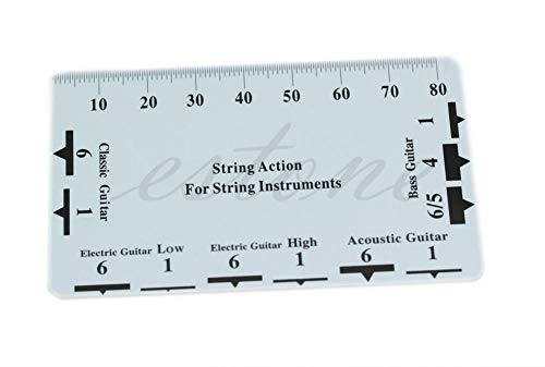 HEASEN Guitar Bass String Pitch Ruler Gauge String Action Measuring Guitar Luthier Tool