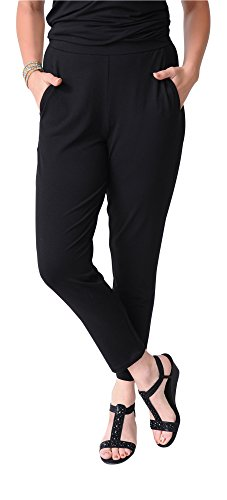Eileen Fisher Slim Ankle Slouchy Pant Black ()