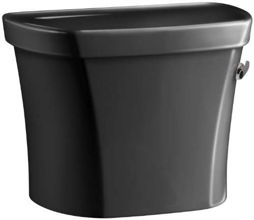 Kohler K-4841-RA-7 Wellworth 1.28 gpf Tank, 14-inch Rough-In, Right-Hand Trip Lever, Black Black - Ra 7 Wellworth Toilet