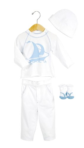 Elegant Baby Tropical Fashion Set- 6 mos- Sailboat