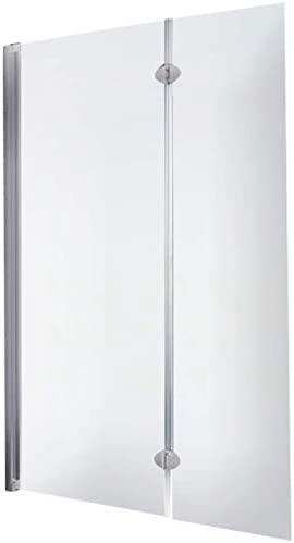Schulte - Mampara plegable, mampara de ducha reversible y plegable, 103 x 130 cm, con 2 paneles giratorios de cristal transparente perfilados en aluminio al natural: Amazon.es: Bricolaje y herramientas