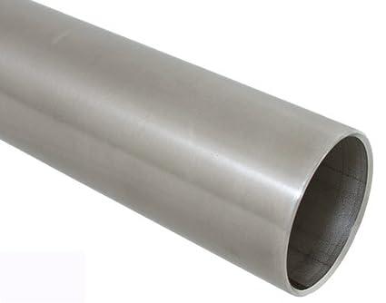Tubo de acero inoxidable 42,4 x 2,0 mm/longitud 75 cm/grano ...