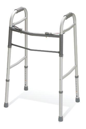 Medline Two-Button Folding Walker without Wheels