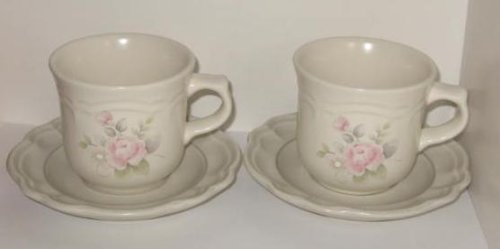 Pfaltzgraff Tea Rose Cup & Saucer (set of 2)
