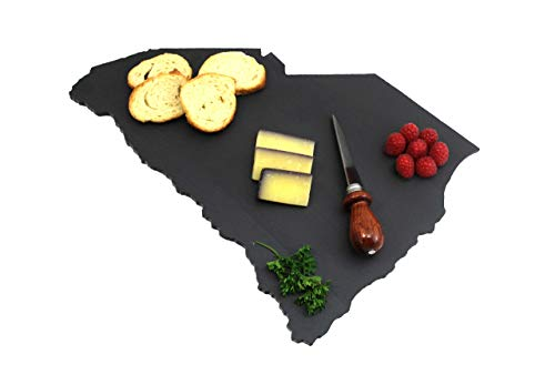 Custom South Carolina Slate Cutting Board, Serving Tray, or Cheese Board- Personalized with Laser Engraving