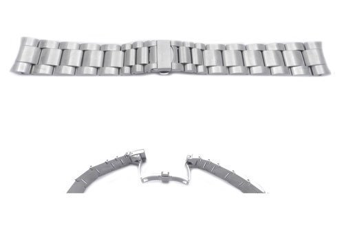 Swiss Army Stainless Steel Silver Tone Chrono Class 24mm Bracelet Watch (Mens Swiss Military Stainless Steel)