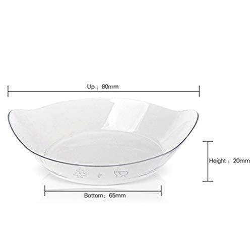 Party Wedding Supplies Disposable Plastic Tableware 7044mm/60ml Transparent Petal Dessert Cake Bowl 20/Pack,Transparent12