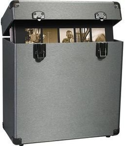 Price comparison product image Vinyl Styl Groove Record Carrying Case VS-A-010 (Graphite) Velvet Lined