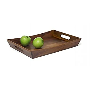 Lipper International Curved Tray, Brown