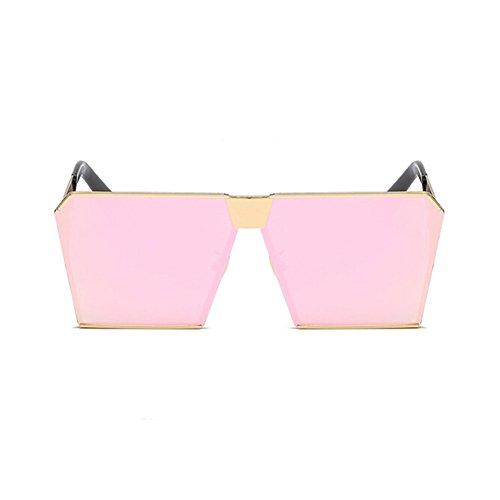 Rectangulares Gafas Dorado sol Gafas UV400 de Retro Gradiente Marco Vintage Moda Rosa Lente Xinvision Mujer Metal Protection EUq6anFw1