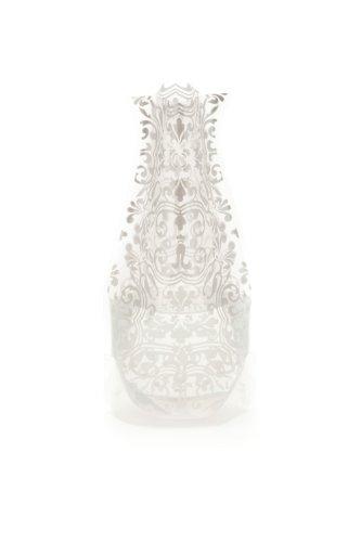 1 X ChiChi Silver Myvaz Vase - Collapsible, Expandable (Foldable Vase)