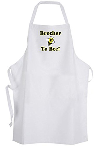 Brother To Bee! Adult Size Apron - Cute Love Funny Humor New Baby Wedding by Aprons365