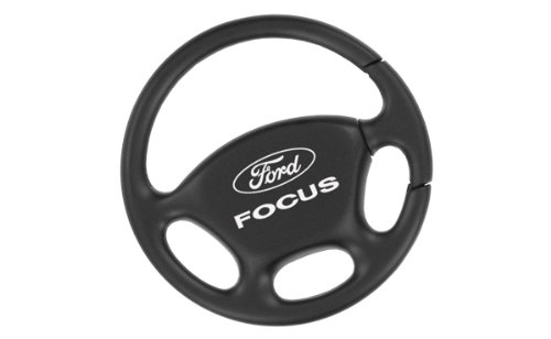 - Ford Focus Black Steering Wheel Key Chain Keychain Fob