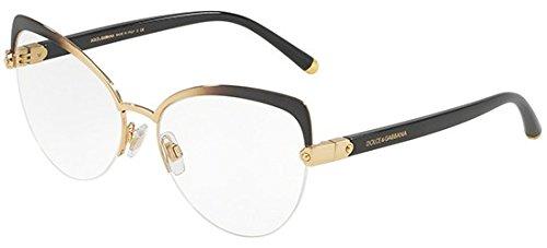 (Dolce&Gabbana DG1305 Eyeglass Frames 1322-53 - Gold Gradient Grey DG1305-1322-53)